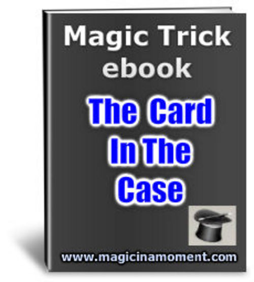 Product picture Card In Case - Brandable Magic Trick e-book