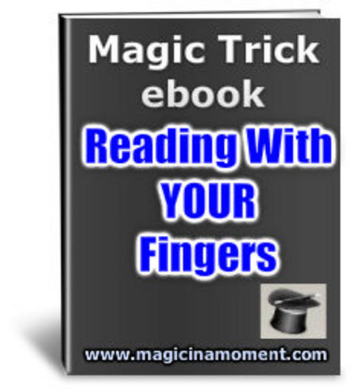 Product picture Finger Reading - Brandable Magic Trick e-book