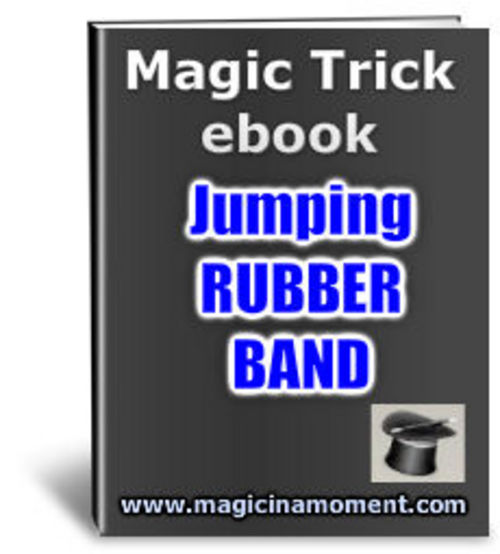 Product picture Jumping Rubber Band - Brandable Magic Trick e-book