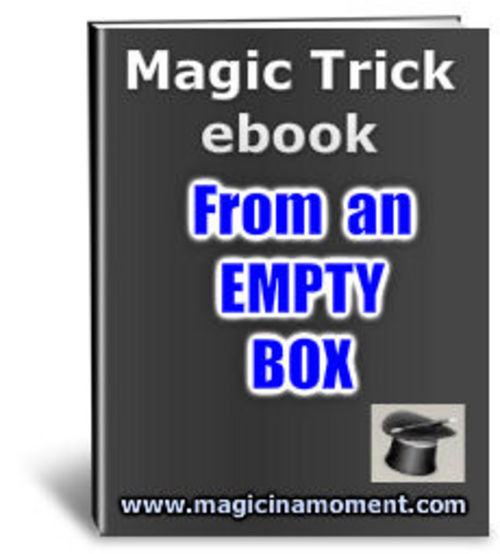 Product picture From An Empty Box - Brandable Magic Trick e-book