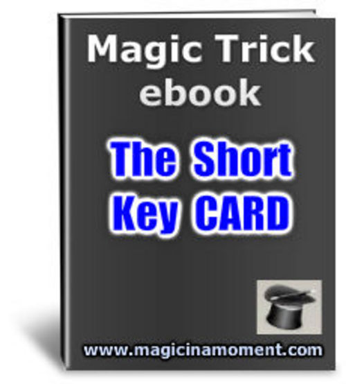 Product picture The Short Key Card - Brandable Magic Trick e-book