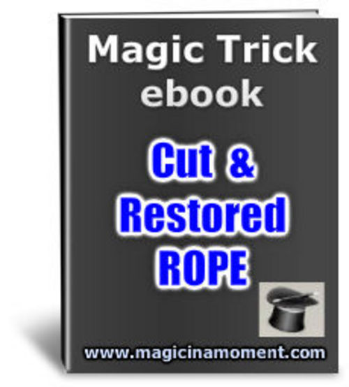 Product picture Cut& Restored Rope - Brandable Magic Trick e-book