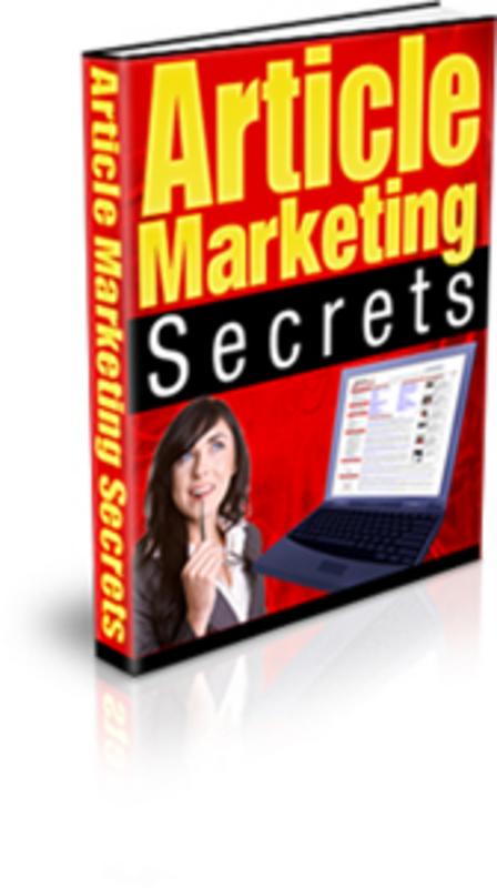 Product picture Article Marketing Secrets